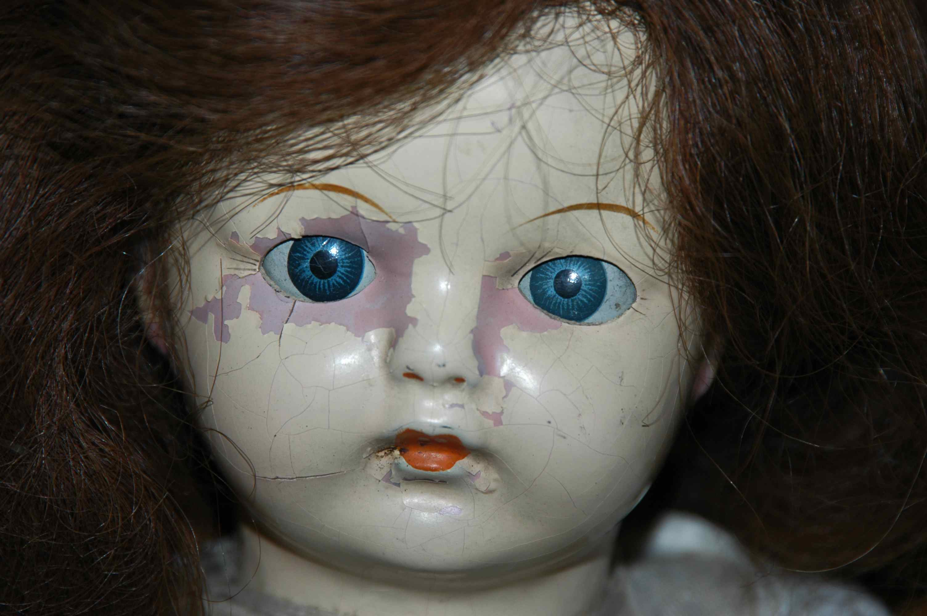 Old Doll With Blue Eye...